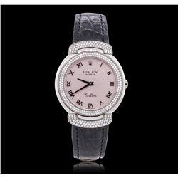 Rolex 18KT White Gold 1.00 ctw Diamond Cellini Wristwatch