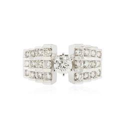 18KT White Gold 1.54 ctw Diamond Ring