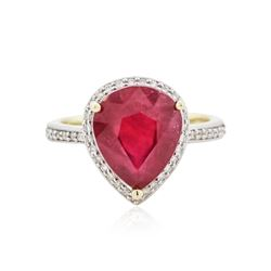 14KT Yellow Gold 6.14 ctw Ruby and Diamond Ring