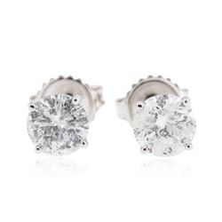 14KT White Gold 1.61 ctw Diamond Stud Earrings