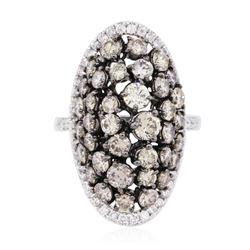 14KT White Gold 3.79 ctw Diamond Ring