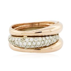14KT Two-Tone Gold 0.55 ctw Diamond Ring