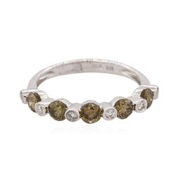 18KT White Gold 0.50 ctw Cognac Diamond Ring