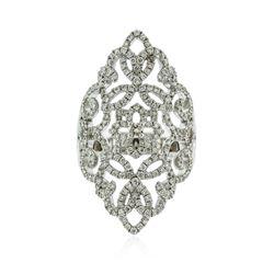 14KT White Gold 0.93 ctw Diamond Ring