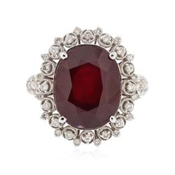 14KT White Gold 10.13 ctw Ruby and Diamond Ring
