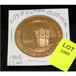CITY OF VICTORIA CENTENNIAL1862-1962 1 DOLLAR IN
