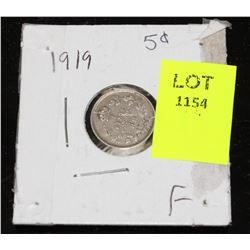 CANADA SILVER SMALL NICKEL-1919