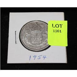 CANADA  SILVER HALF DOLLAR-1954