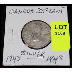 CANADA SILVER QUARTER-1943