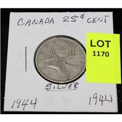 CANADA SILVER QUARTER-1944