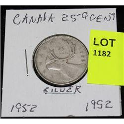 CANADA SILVER QUARTER-1952