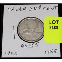 CANADA SILVER QUARTER-1955