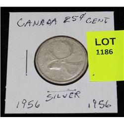 CANADA SILVER QUARTER-1956
