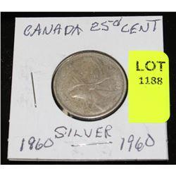 CANADA SILVER QUARTER-1960