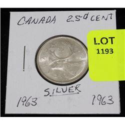 CANADA SILVER QUARTER-1963