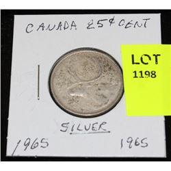 CANADA SILVER QUARTER-1965