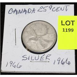 CANADA SILVER QUARTER-1966