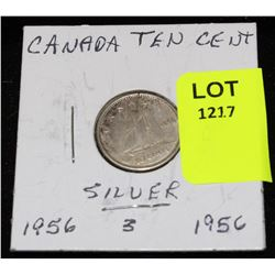 CANADA SILVER DIME-1956