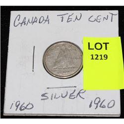 CANADA SIVER DIME-1960