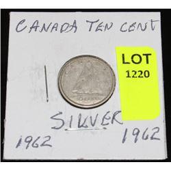 CANADA SIVER DIME-1962