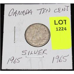 CANADA SIVER DIME-1965
