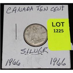 CANADA SIVER DIME-1966