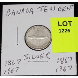 CANADA SIVER DIME-1967