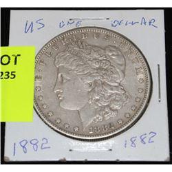 US SILVER MORGAN DOLLAR-1882