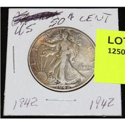 US SILVER HALF DOLLAR-1942