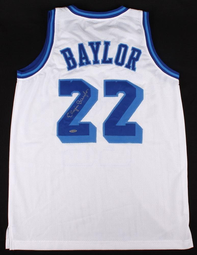 size 40 3d912 ba2fd Elgin Baylor Signed Lakers Retro Jersey (UDA COA)
