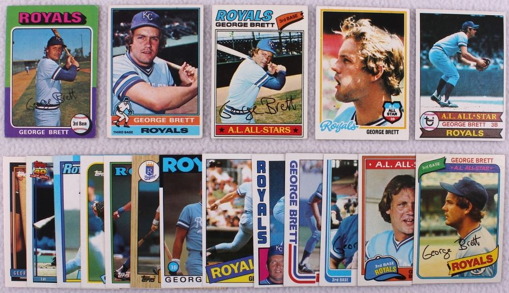 Lot Of 18 George Brett Topps Baseball Cards With 1975 Topps Rc
