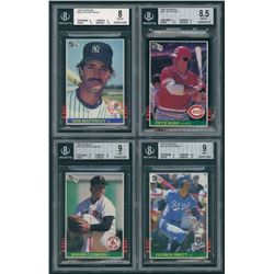 Lot Of 4 Graded 1985 Donruss Baseball Cards With 295