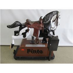 CLASSIC VINTAGE PINTO BONANZA HORSE RIDING COIN OPERATED KID RIDE WITH MUSIC