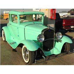 12:30 PM SATURDAY FEATURE 1931 FORD 5 WINDOW CUSTOM SHOW CAR