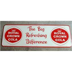 NO RESERVE! CROWN ROYAL COLA COMPANY VINTAGE SIGN - CIRCA 1961