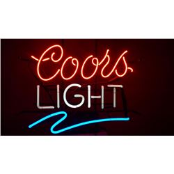 Neon Coors Light sign. Donated By: John Fraser, Franchisee, Regina
