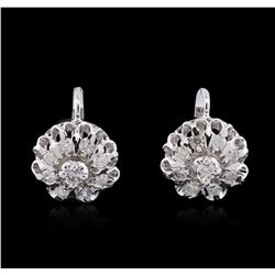 14KT White Gold 1.10 ctw Diamond Earrings