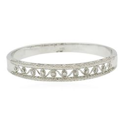 18KT White Gold 1.43 ctw Diamond Bangle Bracelet