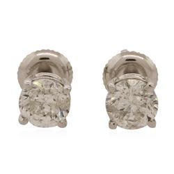 14KT White Gold 1.47 ctw Diamond Stud Earrings