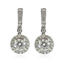 14KT White Gold 1.62 ctw Diamond Earrings