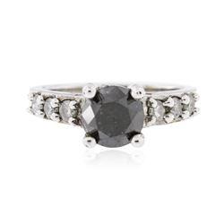 14KT White Gold 1.59 ctw Black Diamond Ring