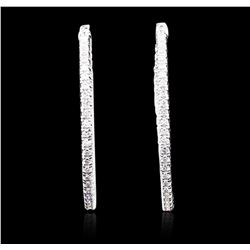 14KT White Gold 2.69 ctw Diamond Earrings