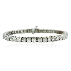 14KT White Gold 9.25 ctw Diamond Tennis Bracelet