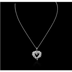 14KT White Gold 1.83 ctw Diamond Pendant With Chain