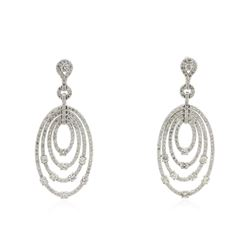 14KT White Gold 2.98 ctw Diamond Earrings