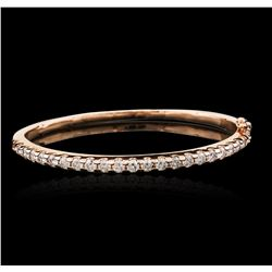 14KT Rose Gold 2.88 ctw Diamond Bangle Bracelet