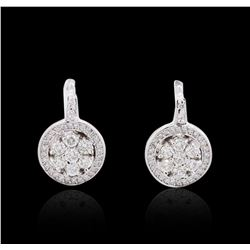 14KT White Gold 1.86 ctw Diamond Earrings