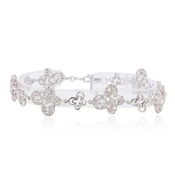 14KT White Gold 0.43 ctw Diamond Bracelet