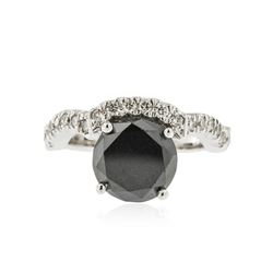 14KT White Gold 3.11 ctw Black Diamond Ring