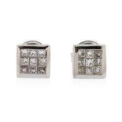 14KT White Gold 0.64 ctw Diamond Stud Earrings